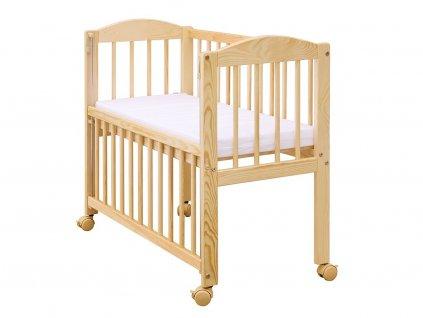 Detská postieľka k posteli Baby s odnímateľným bokom - 90 x 41 cm