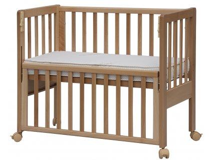 Postieľka k posteli so sťahovacou bočnicou Baby Anna - buk, 90 x 41 cm