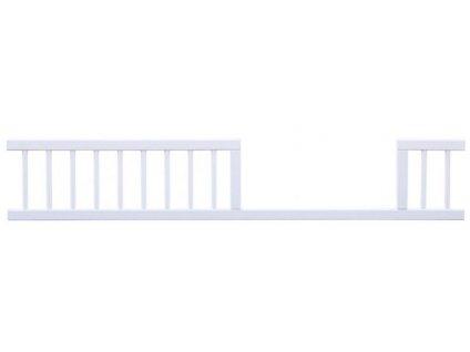 Biela ochranná bariéra / zábrana k postieľke - 140 cm