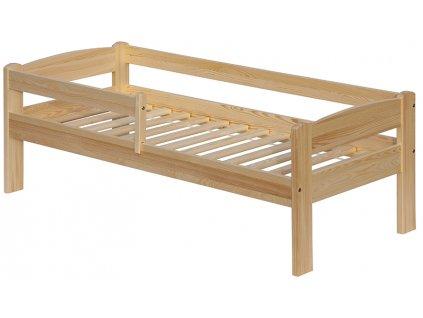 Detská posteľ z borovicového masívu so zábranou, 160 x 70 cm