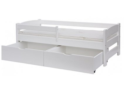 2 zásuvky k posteli 165 x 75 cm