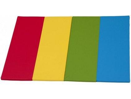Podložka na hranie pre deti Didi - dúhová, 200 x 140 x 4 cm