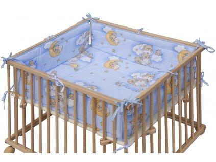 Matrac do ohrádky HONZ - modrá, 98 x 78 cm