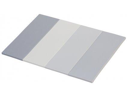 Skladacia žinenka a podložka na hranie Didi - odtiene sivej, 200 x 140 x 4 cm