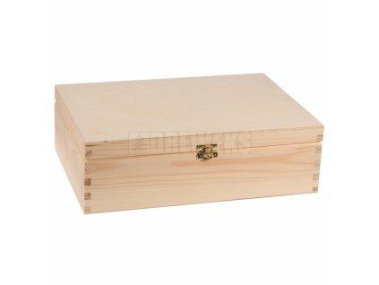 drevená krabička so zámkom