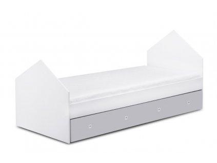 posteľ city sivá