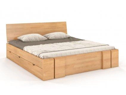 vestre postel z masivu buk ulozny priestor 2