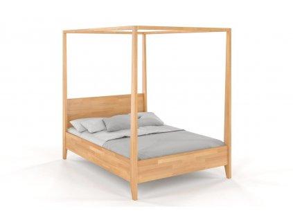 masivna postel visby s nebesami buk 6
