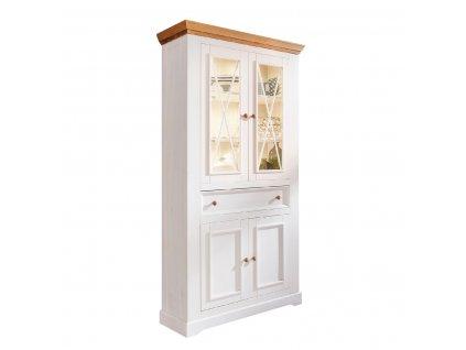 vitrina aron biela z masivu (1)