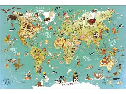 Nástenná magnetická mapa sveta 1