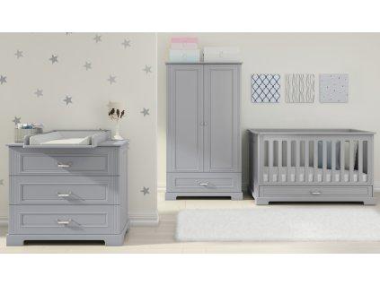 Ines baby biela sivá