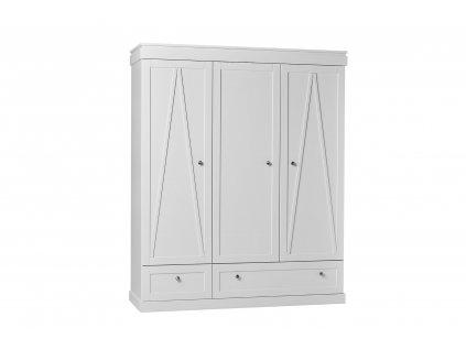 Marie 3door wardrobe white 1