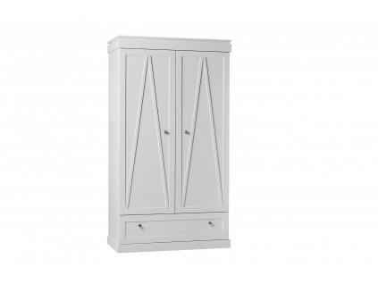 Marie 2door wardrobe white 1