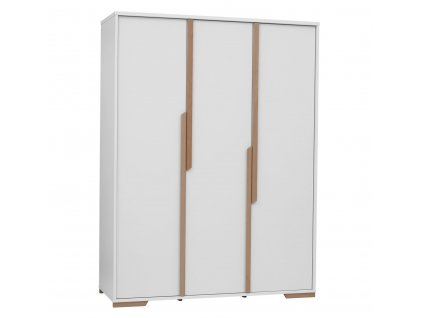 Snap 3door wardrobe white 1