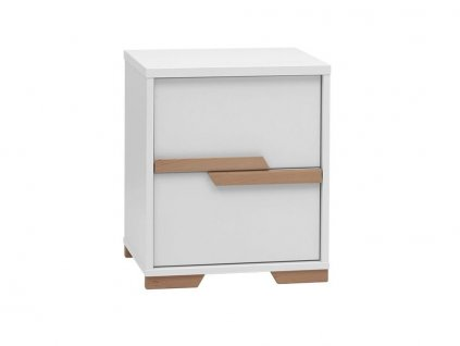 Snap container night stand white