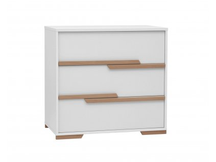 Snap 3drawer chest white