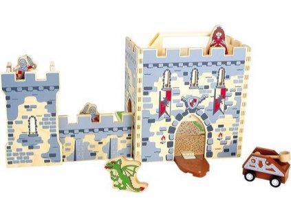 Dreveny rytiersky hrad v kufriku