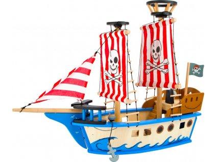 Drevena hracka piratska lod Jack