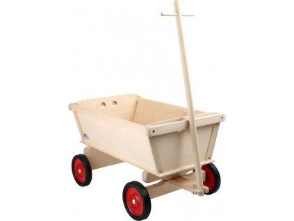 Dreveny tahaci vozik pre deti