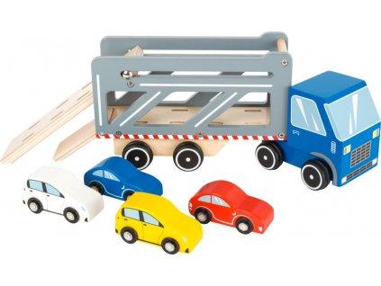 Dreveny transporter so 4 autami Premium