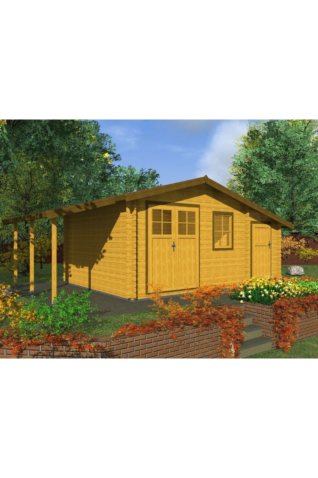 Dřevěná chata 490x350 3