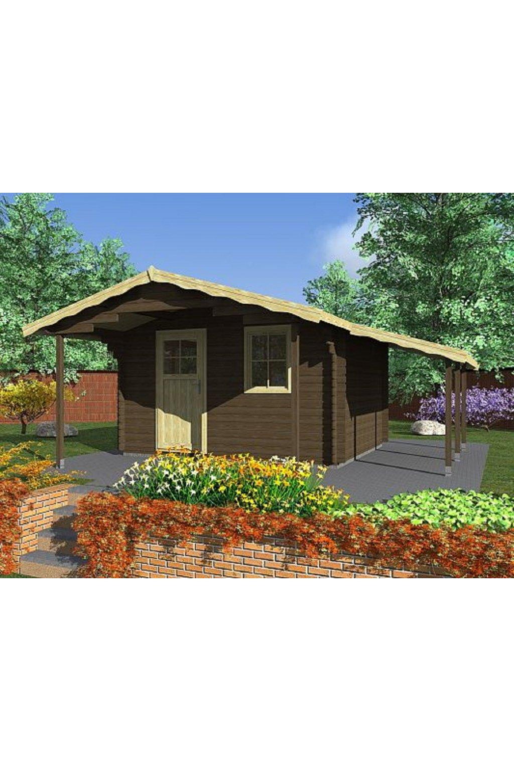 Zahradní domek 350x350 170 pristr 1