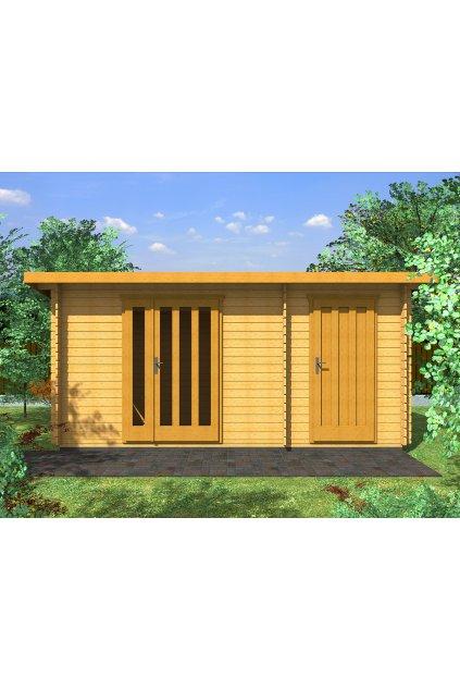 Dřevěný domek 460x250