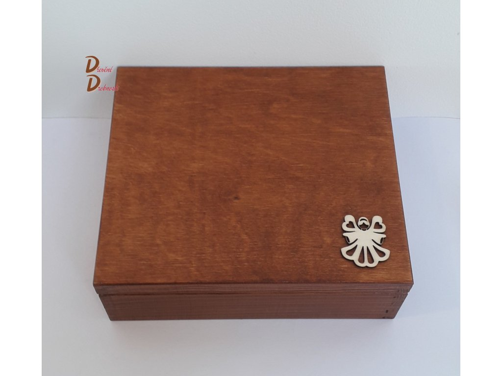 BOX NA ČAJOVÉ SÁČKY S DVANÁCTI PŘIHRÁDKAMI- s dekorací