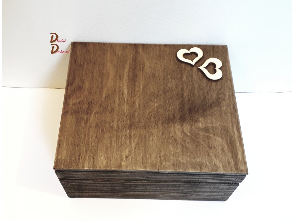 BOX NA ČAJOVÉ SÁČKY S DEVÍTI PŘIHRÁDKAMI- s dekorací