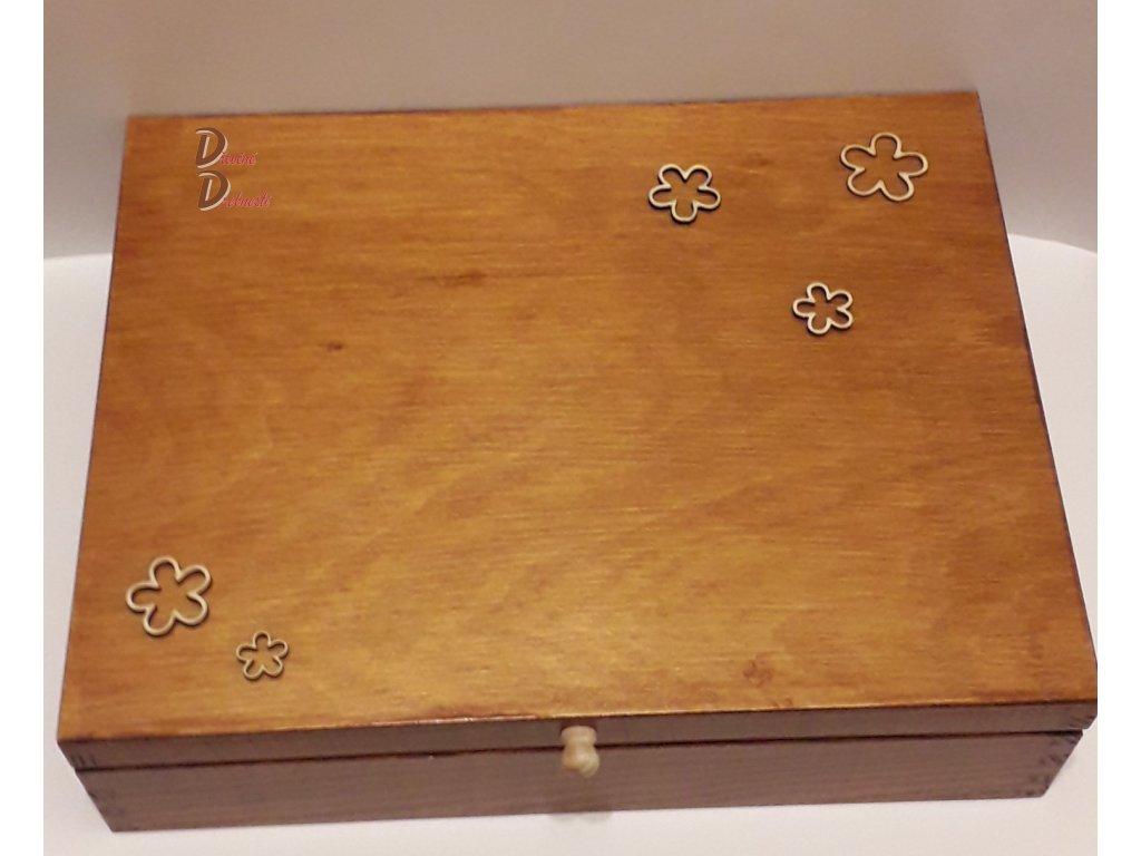 BOX  S DEVÍTI PŘIHRÁDKAMI- KVĚTINY- s úchytkou