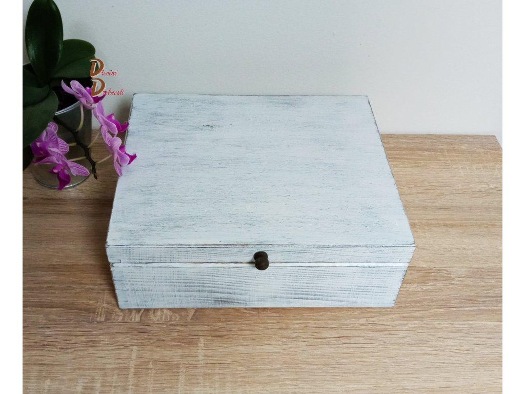 BOX S DEVÍTI PŘIHRÁDKAMI- PATINA- s úchytkou