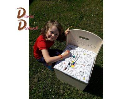 DĚTSKÝ ÚLOŽNÝ BOX KŘESÍLKO s gravírováním