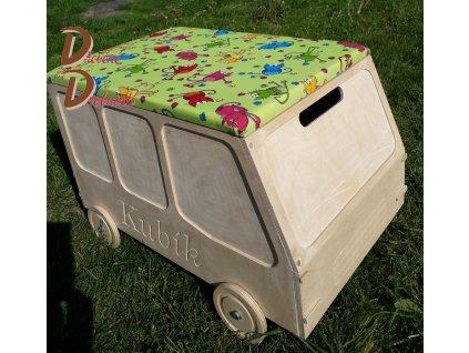DĚTSKÝ ÚLOŽNÝ BOX MINIBUS s gravírováním