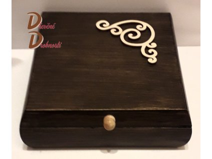 ŠPERKOVNICE SVĚTLÁ-velká  Dřevěná šperkovnice