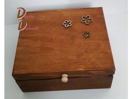BOX SE ČTYŘMI PŘIHRÁDKAMI- KVĚTINY-s úchytkou