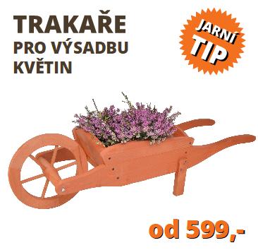 Trakař na zahradu na výsadbu květin