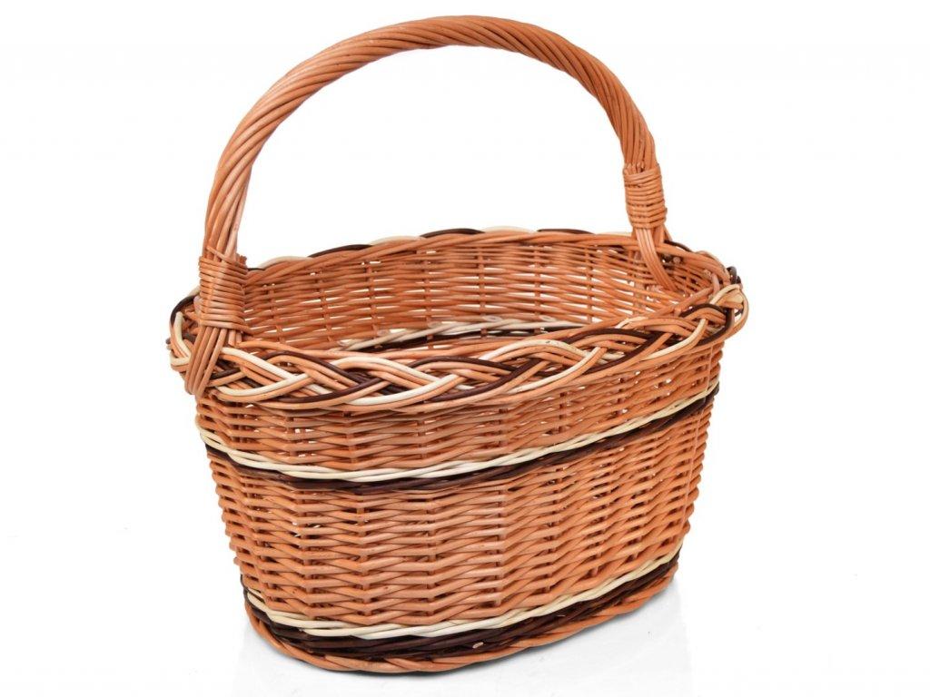 Proutěný nákupní košík Kamila