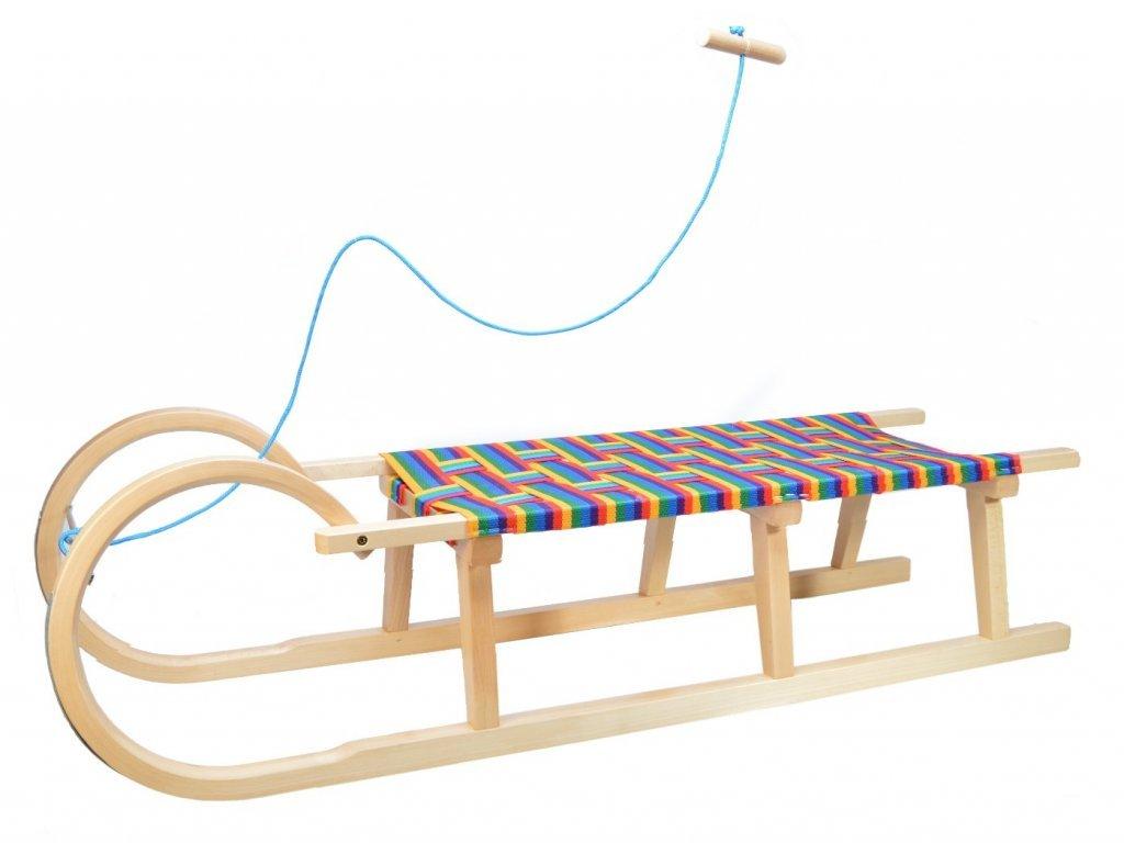 Klasické dřevěné sáně s průpletem 120 cm