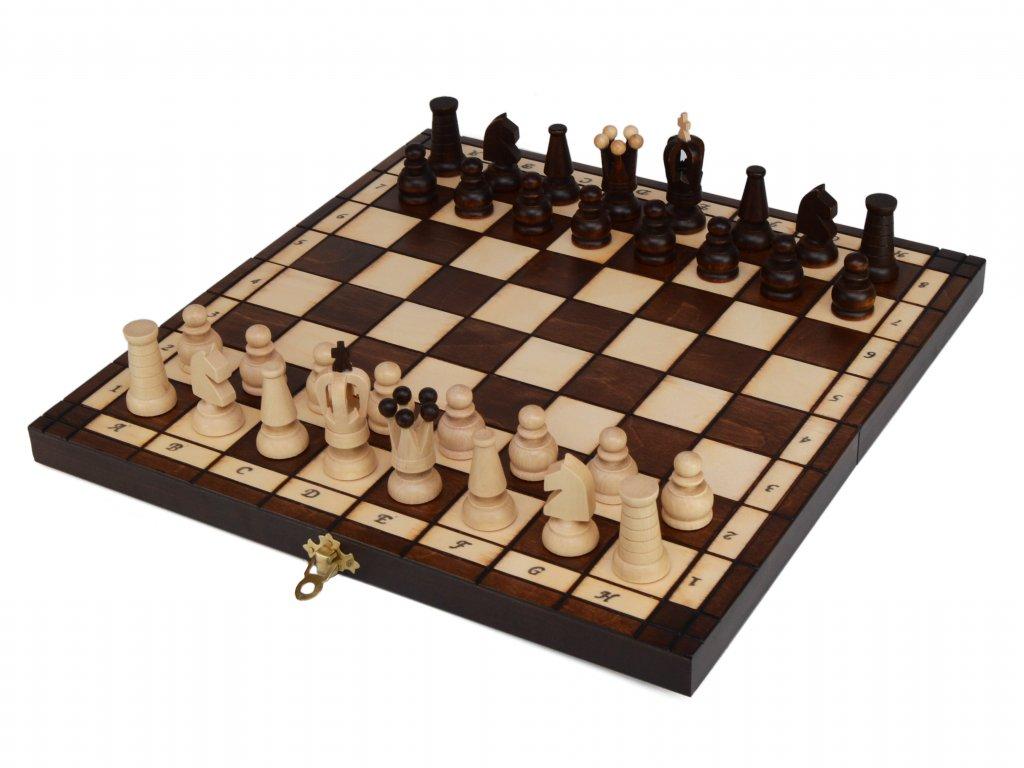 Dřevěné šachy s dámou - velké