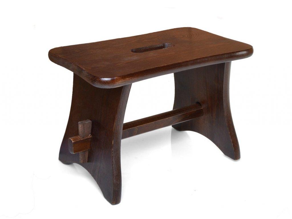 Dřevěná stolička - štokrle ořech