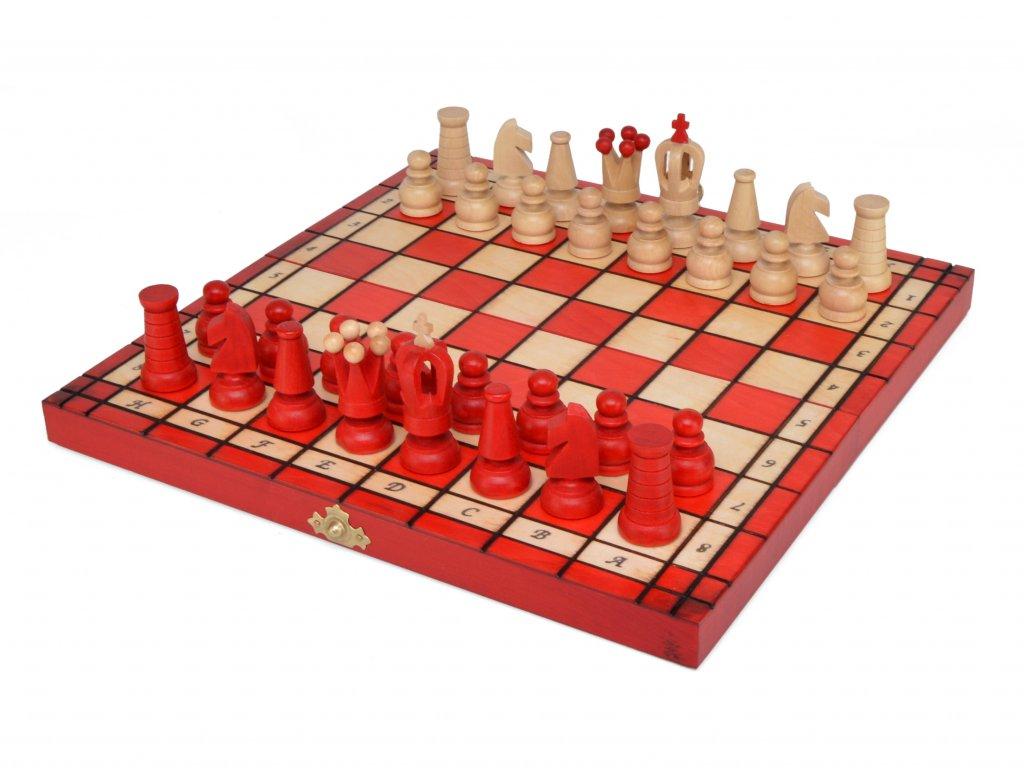 Dřevěné šachy - červené