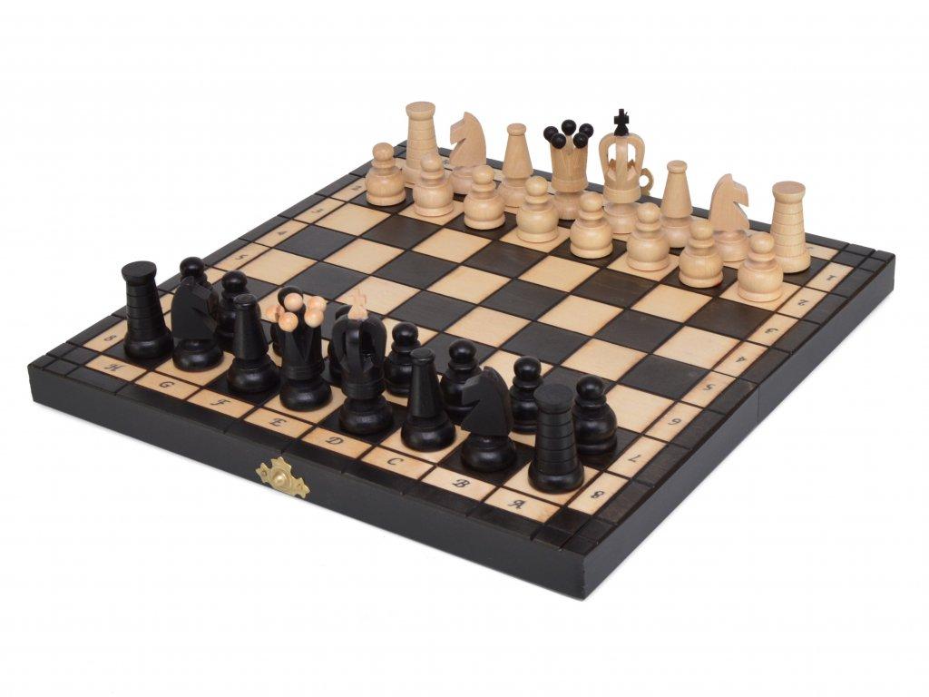 Dřevěné šachy - černé