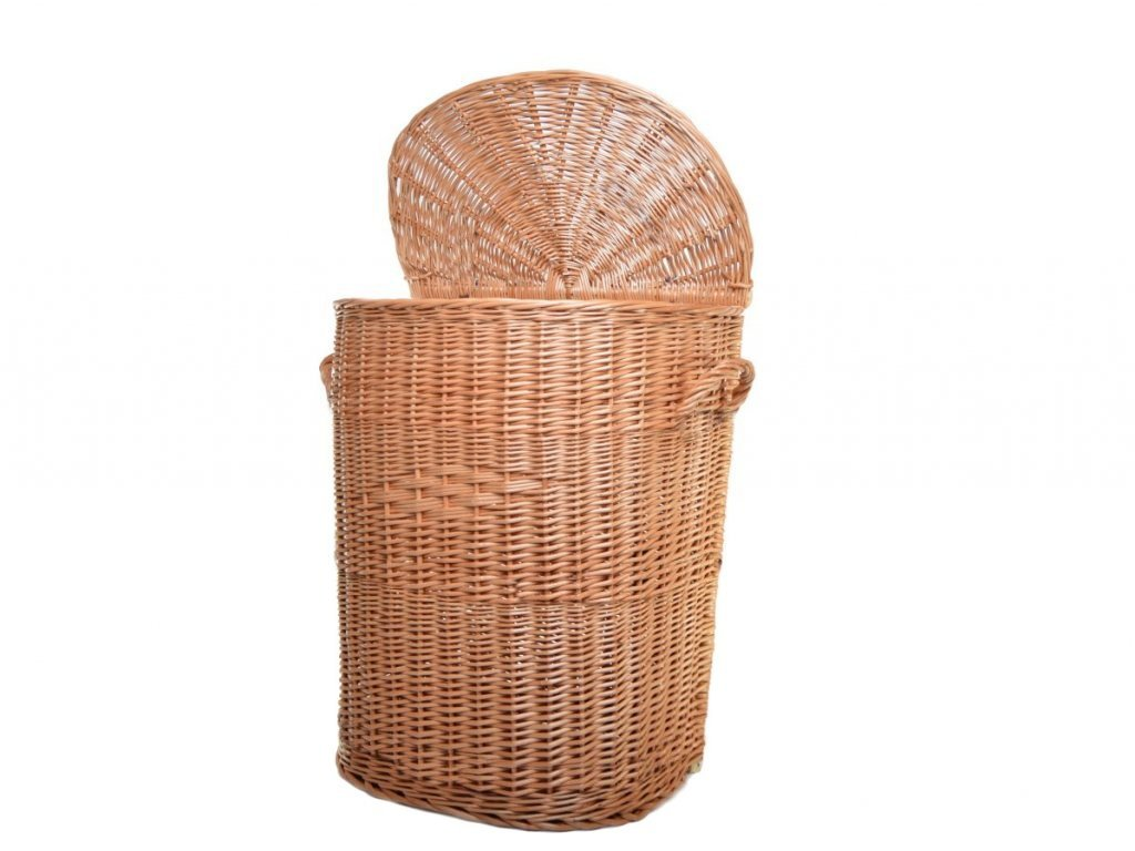Proutěný koš na špinavé prádlo ke zdi - v. 59 cm