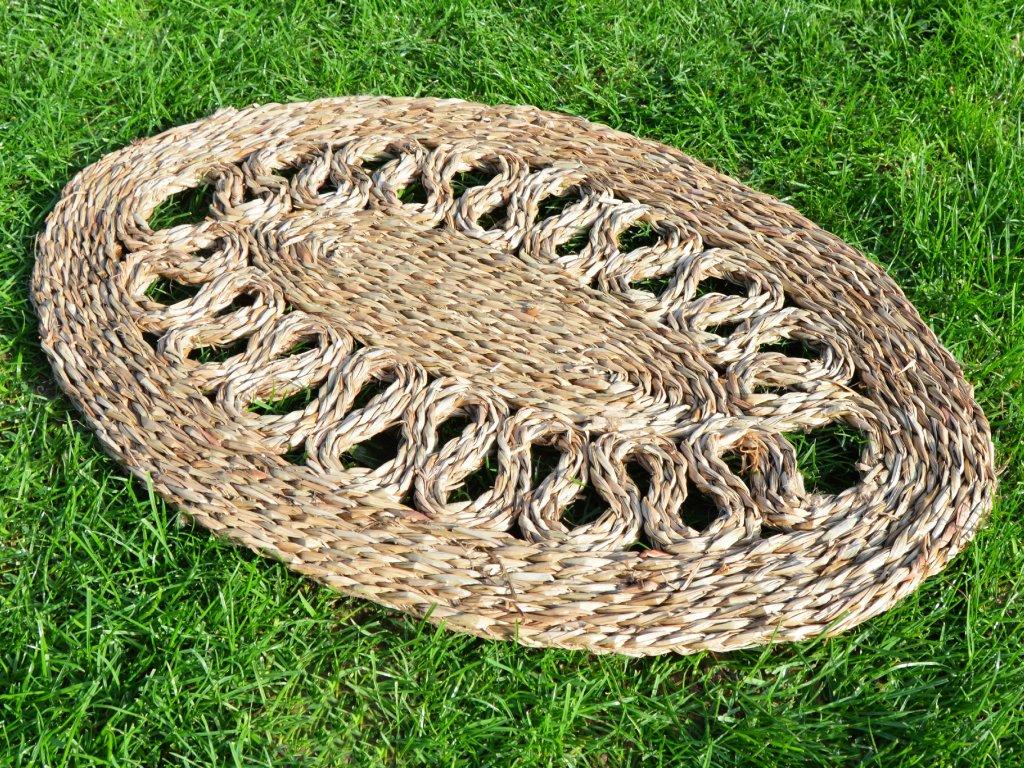 Oválná rohož na podlahu - 40 x 60 cm