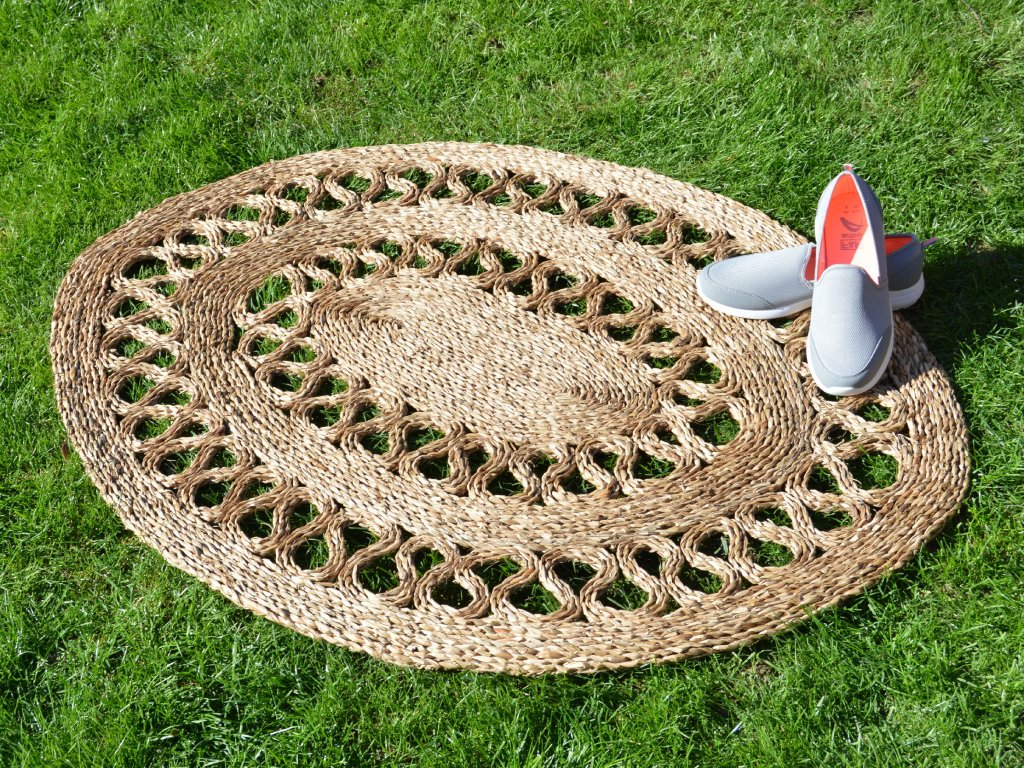 Oválná rohož na podlahu - 90 x 120 cm