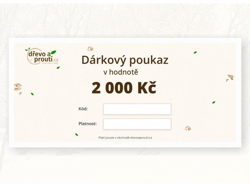 Dárkový poukaz v hodnotě 2 000 Kč