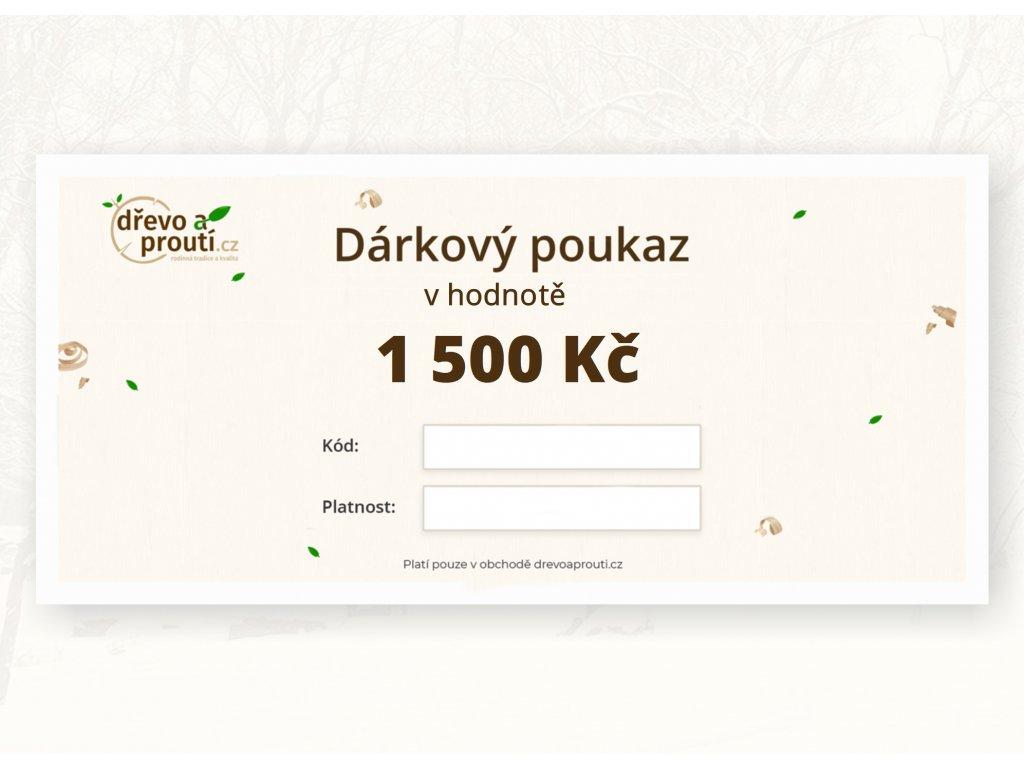 Dárkový poukaz v hodnotě 1 500 Kč