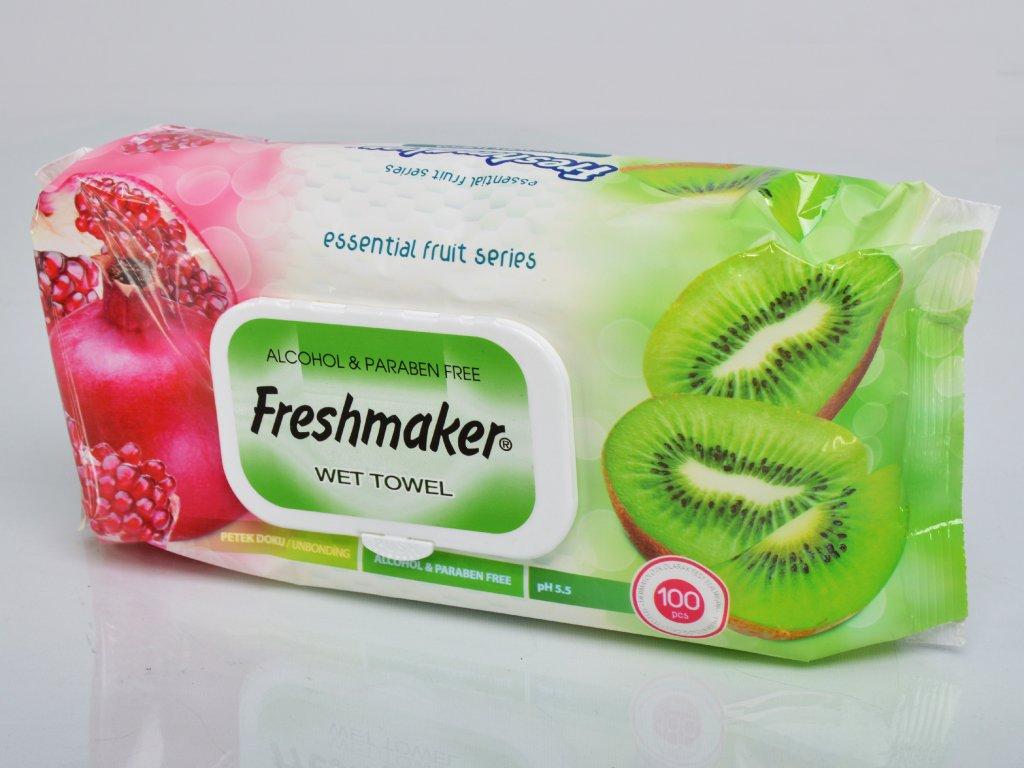 Freshmaker vlhčené ubrousky granátové jablko a kiwi 100 ks