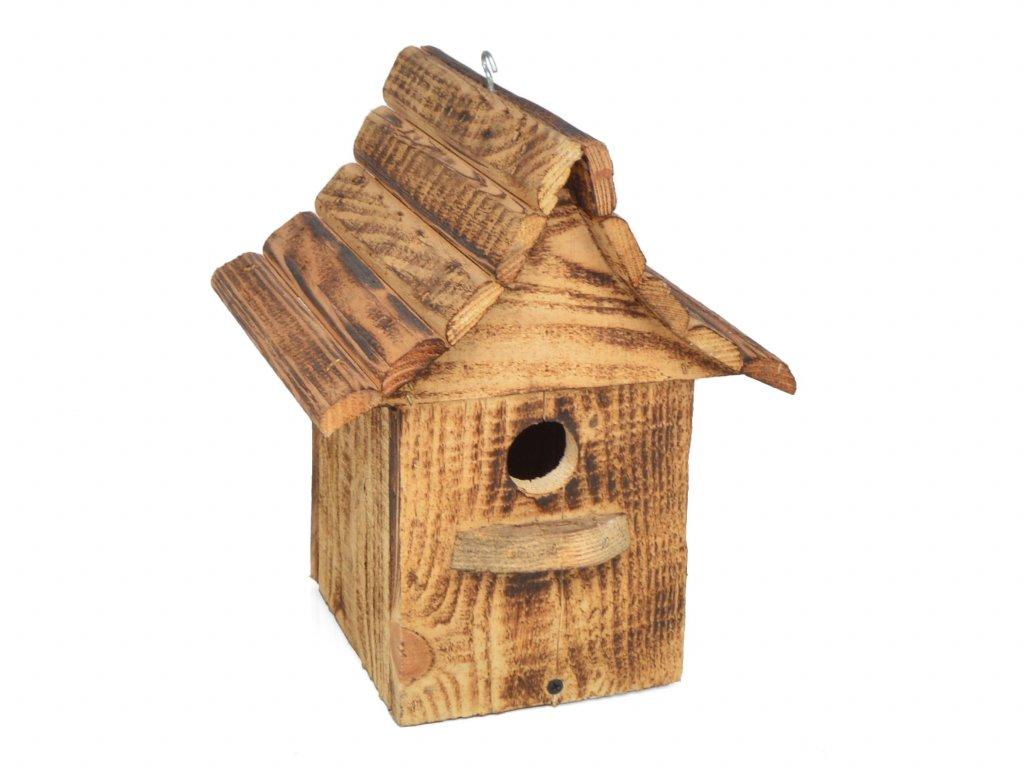 Ptačí budka se sedlovou střechou