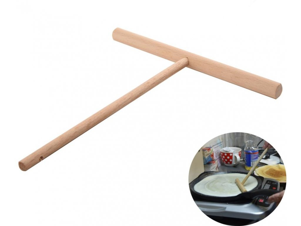 Roztírátko na palačinky z bukového dřeva